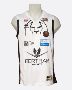 Canotta Ufficiale da gara, bianca, abbigliamento, Derthona Basket Store