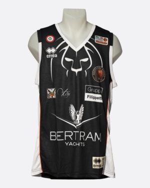 Canotta Ufficiale da gara, nera, abbigliamento, Derthona Basket Store